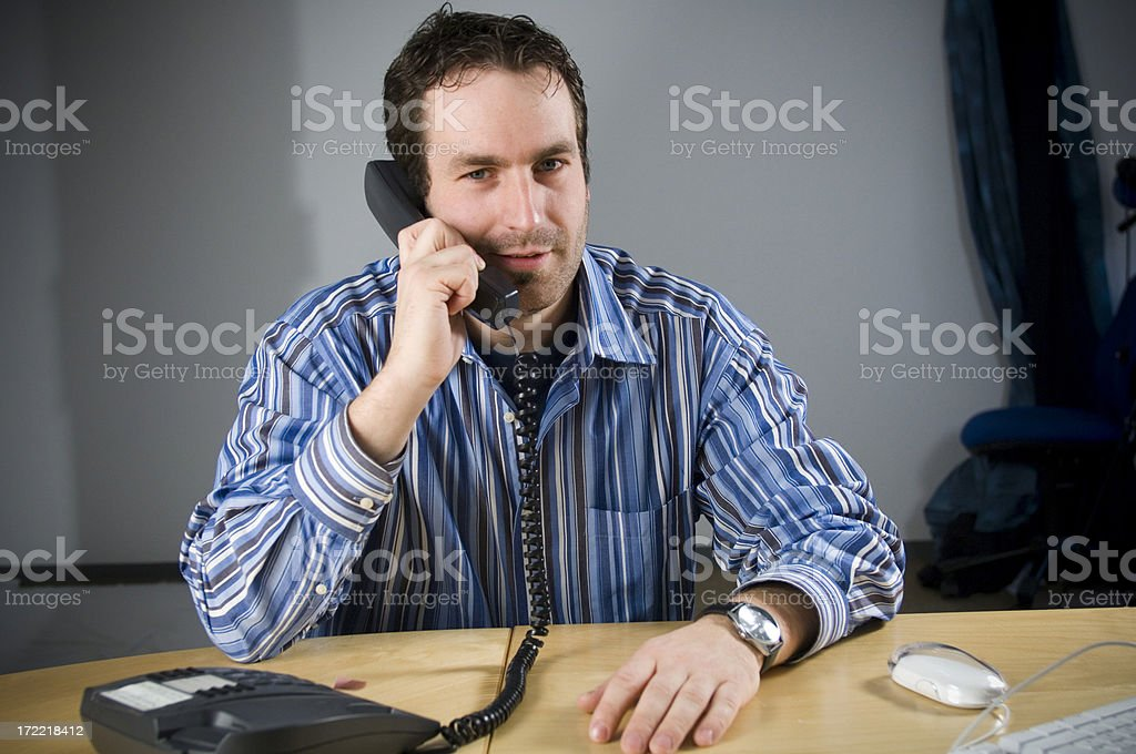 Man speaking on the phone royalty-free stock photo