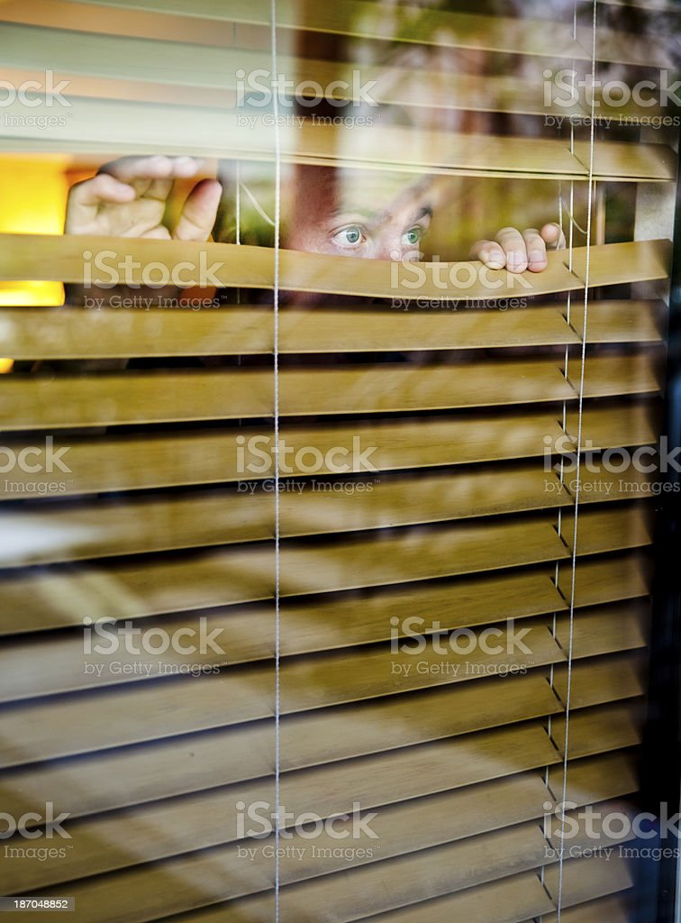 Man Spying royalty-free stock photo
