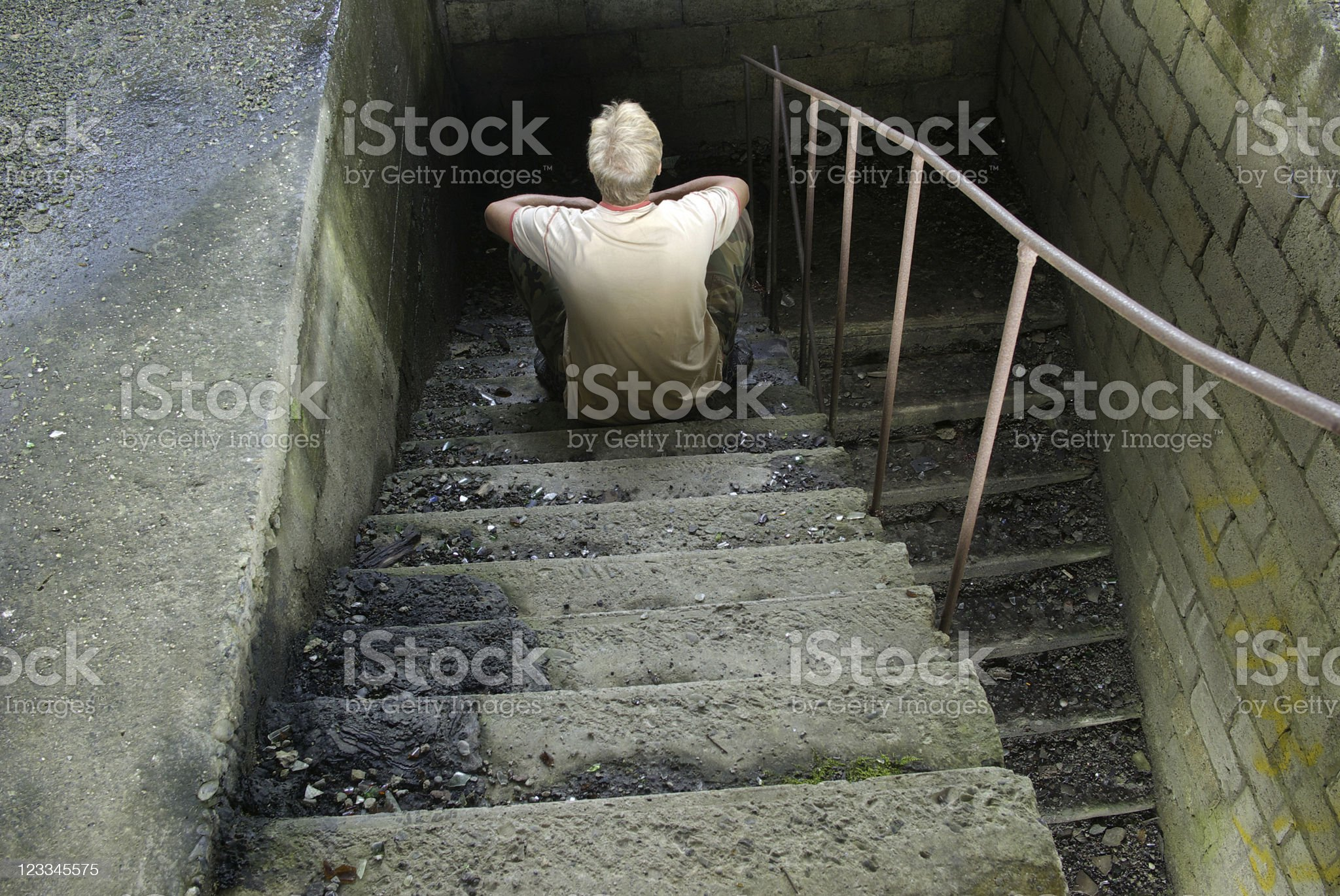 Man staircase royalty-free stock photo