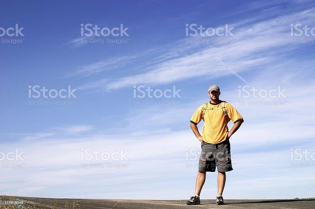 Man Standing & Sky royalty-free stock photo
