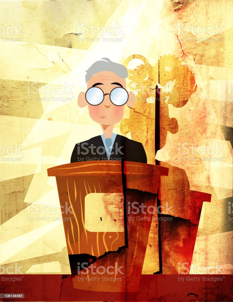 Man Standing at Podium royalty-free stock photo