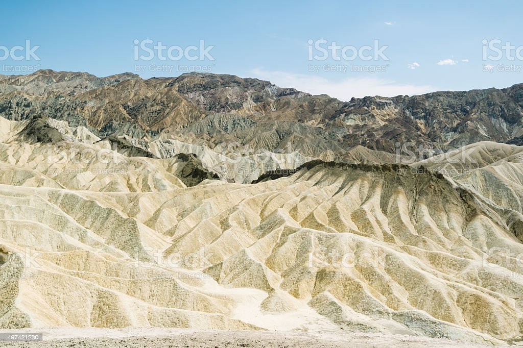 Mann stehend im Death Valley national park Lizenzfreies stock-foto