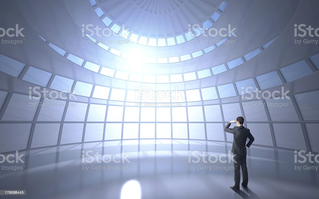 man standing in office royalty-free stock photo