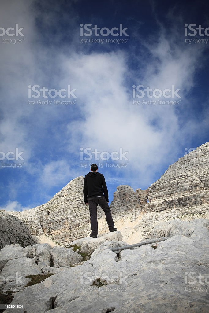 Man Standing On The Edge royalty-free stock photo