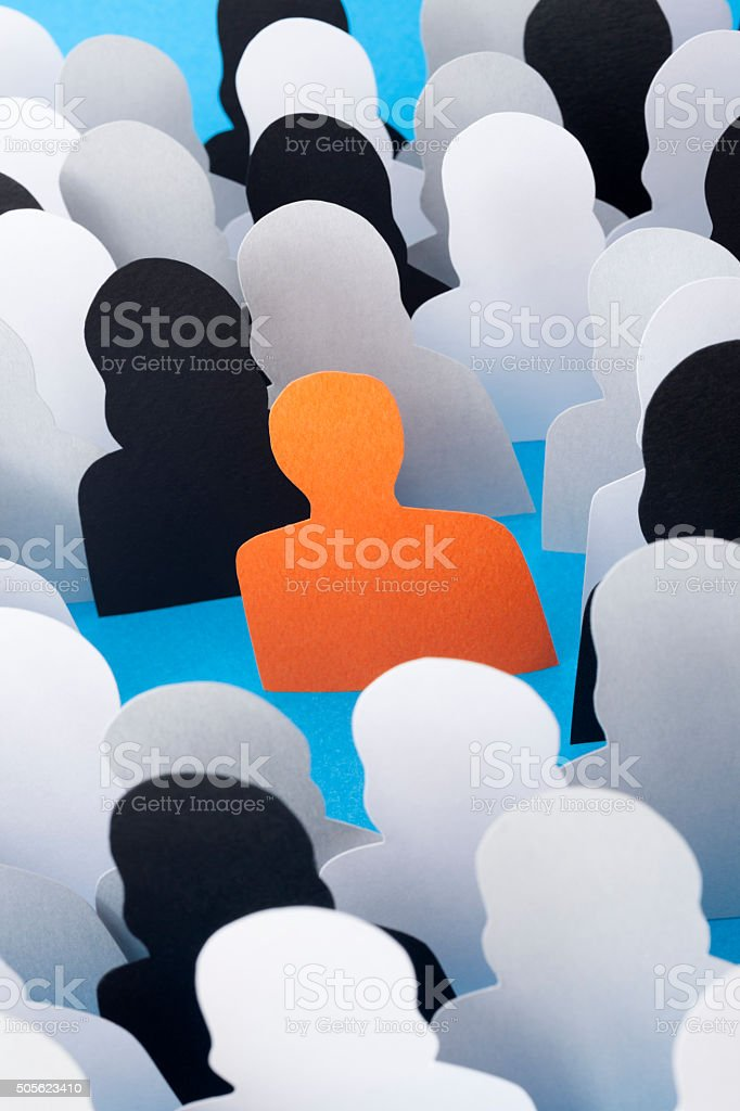 Man standing out stock photo