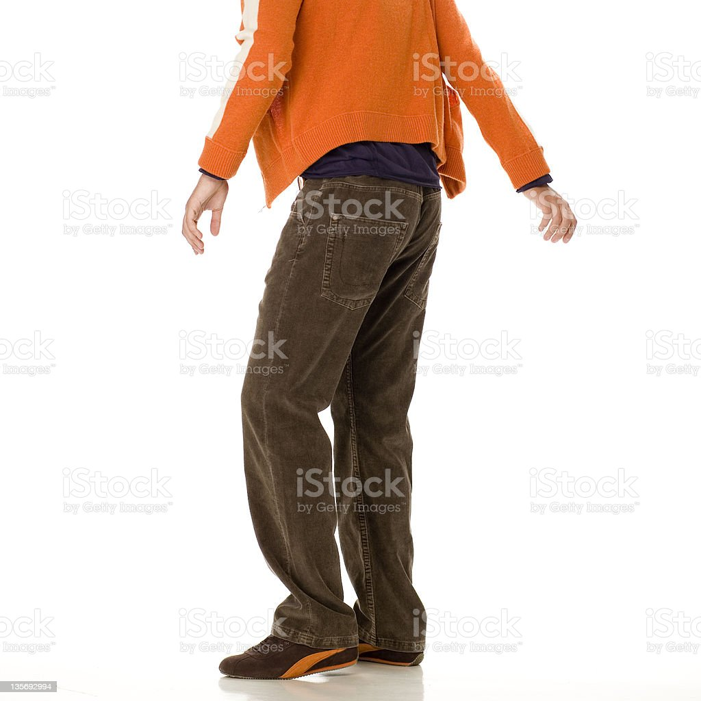 man standing up royalty-free stock photo
