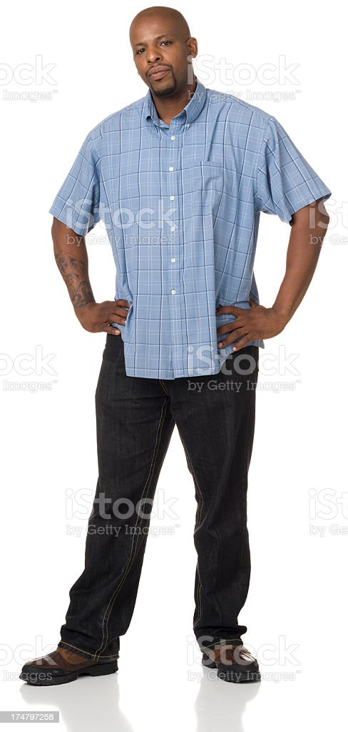 Man Standing With Hands On Hips royalty-free stock photo
