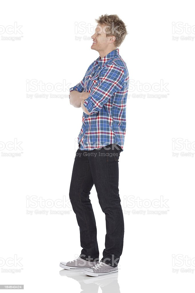 Man standing with his arms crossed royalty-free stock photo