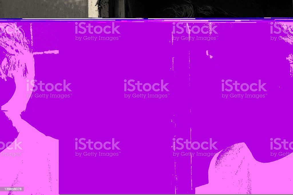 Man Staring Into The Polluted Future royalty-free stock photo