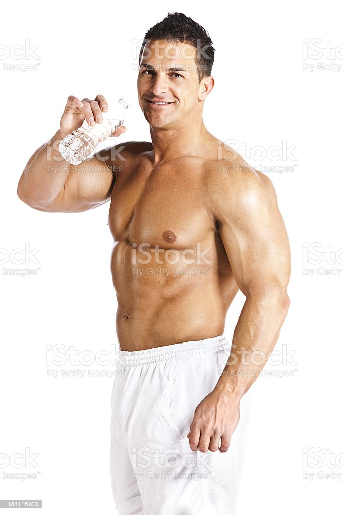 Man staying hydrated royalty-free stock photo
