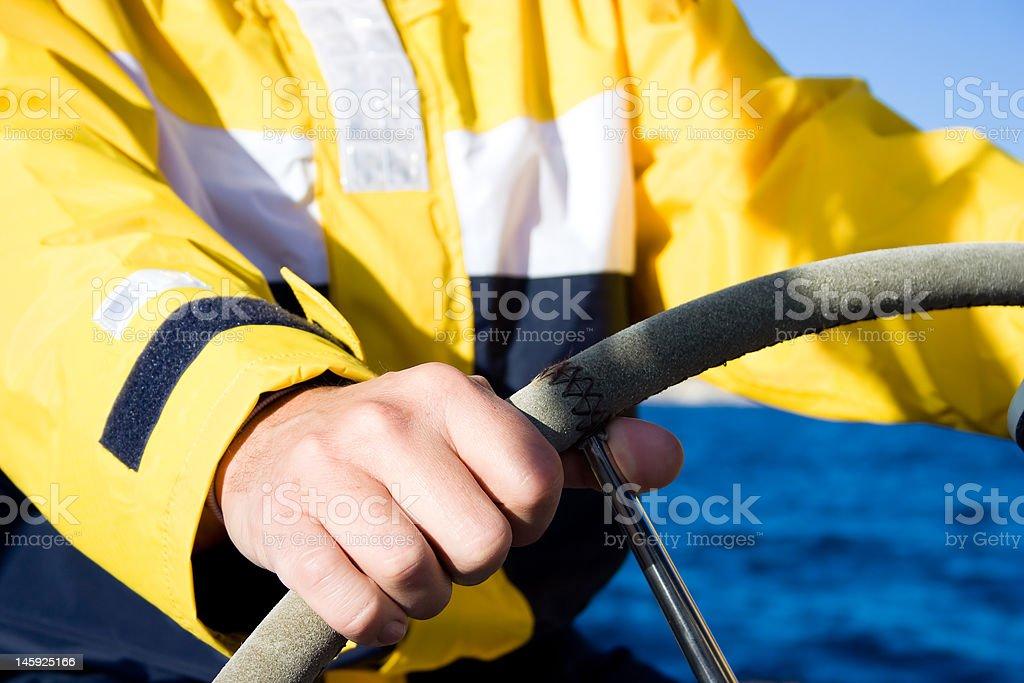 Man steering royalty-free stock photo