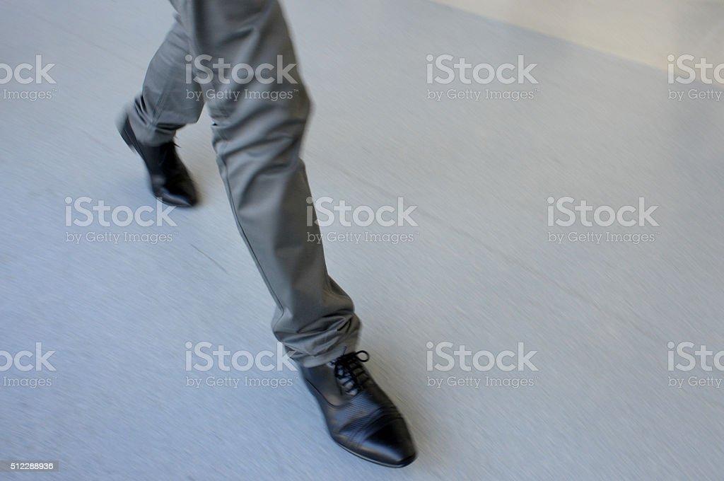 man stomping stock photo