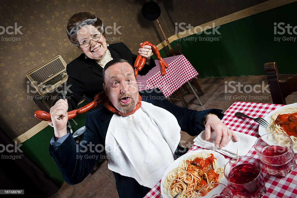 Man strangled by his wife stock photo