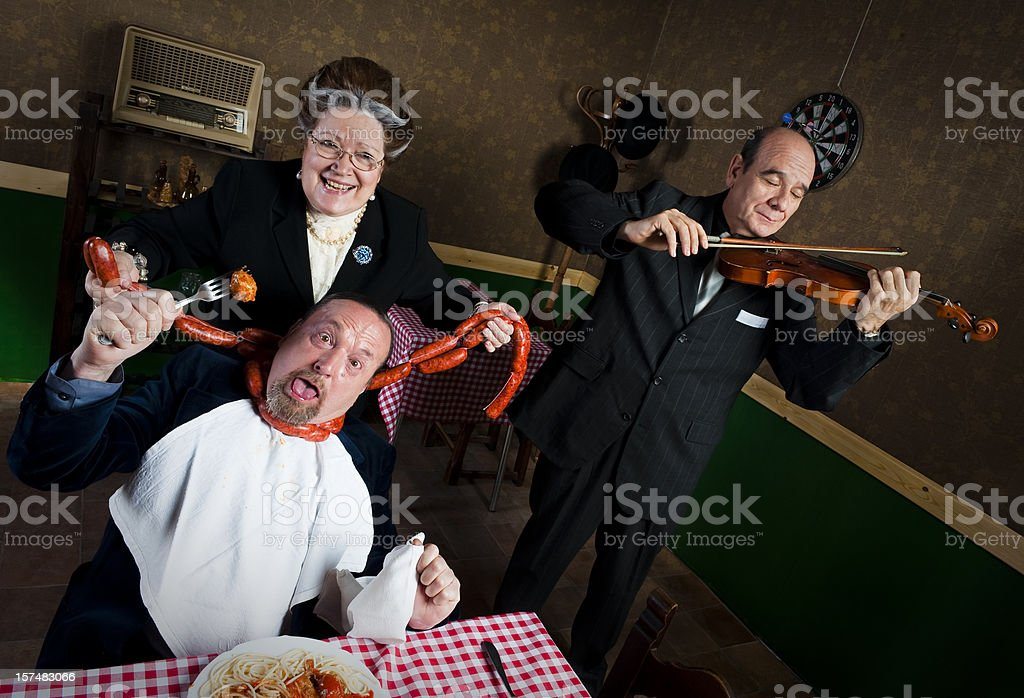 Man strangled by his wife royalty-free stock photo