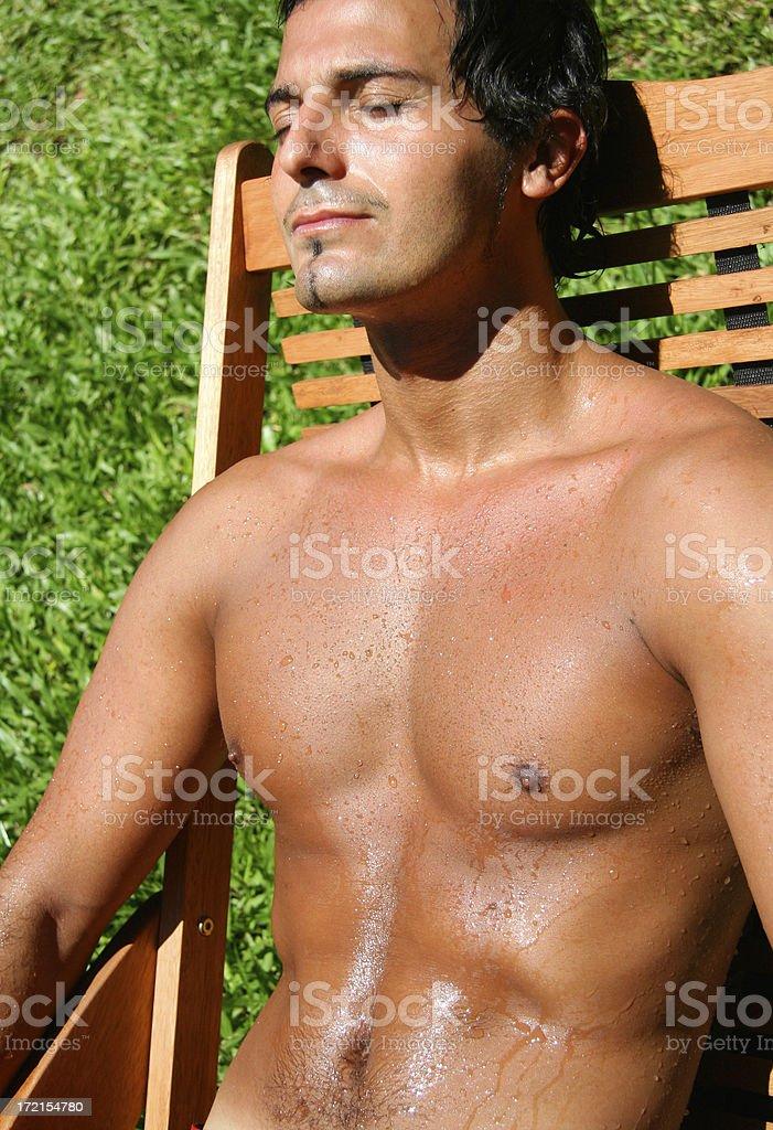 Man Sunbathing royalty-free stock photo
