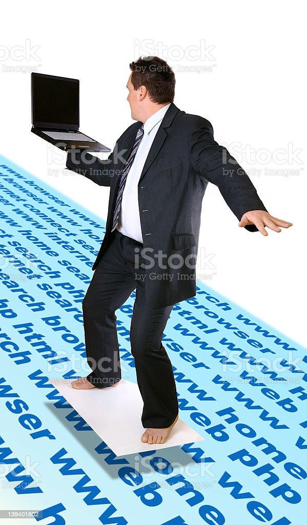 Man Surfing Internet royalty-free stock photo