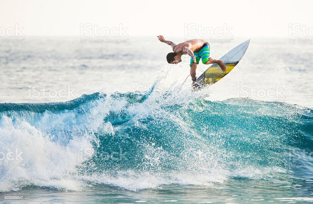 Man surfing. stock photo