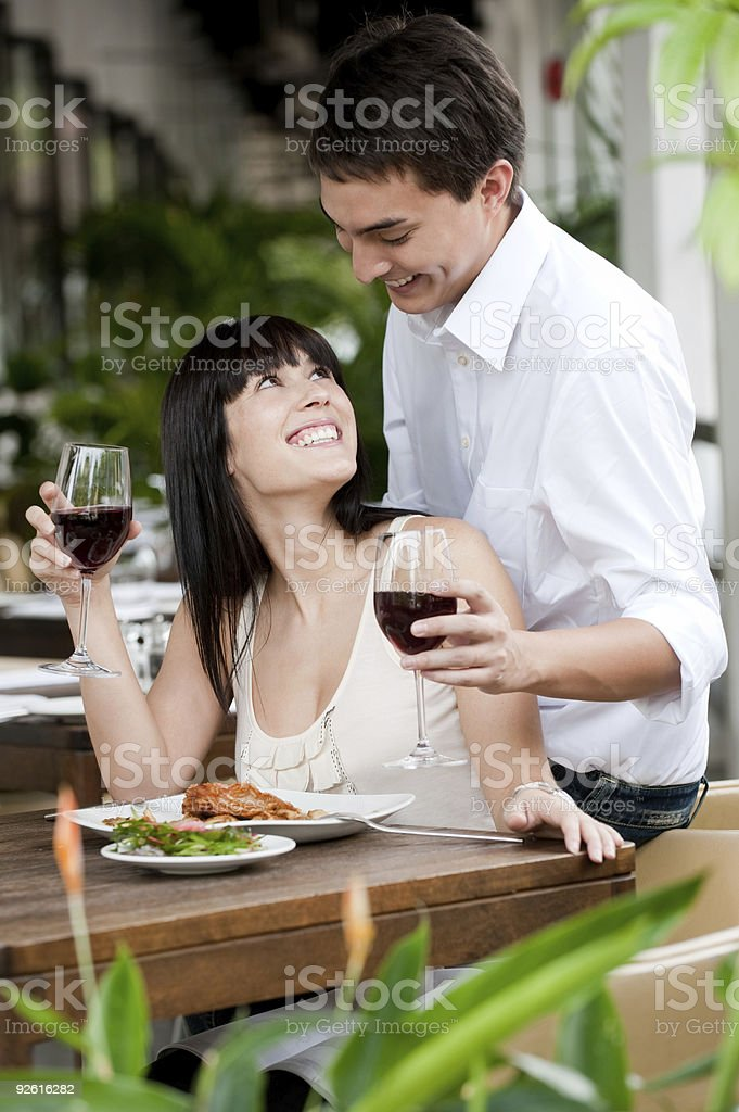 Man Surprises Partner royalty-free stock photo