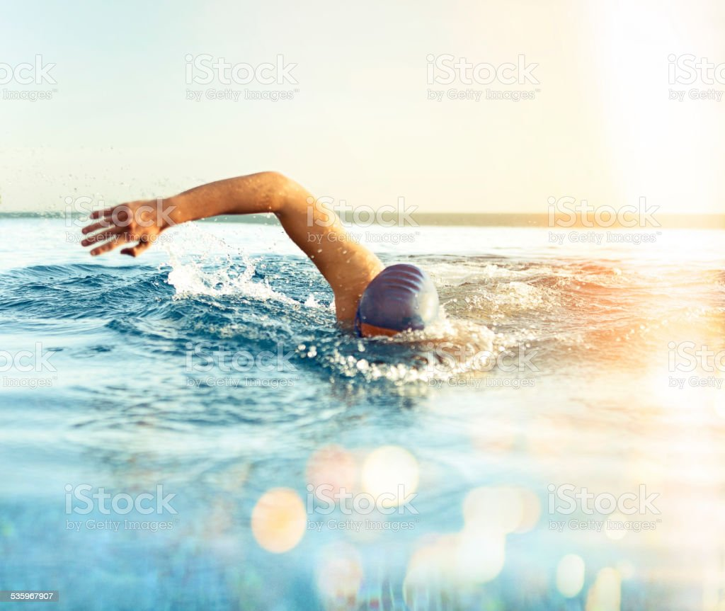 Man Swimming stock photo