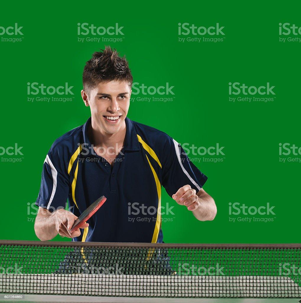 man table tennis player stock photo
