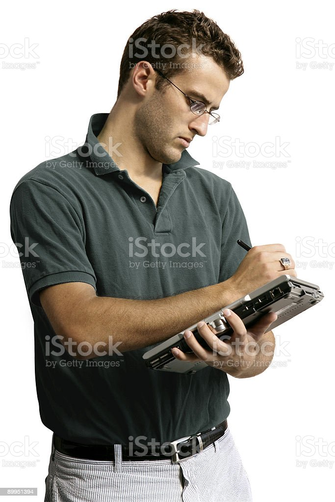 Man Taking Notes royalty-free stock photo