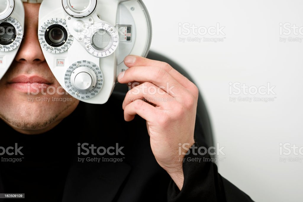 Man Taking Vision Test royalty-free stock photo