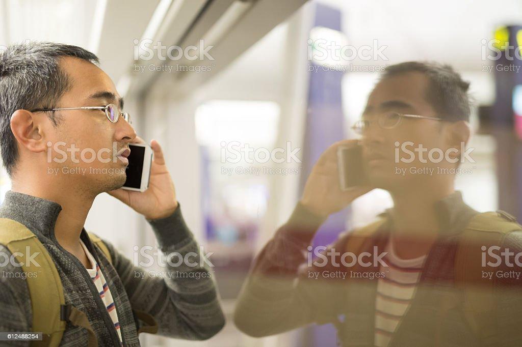 man talk phone stock photo