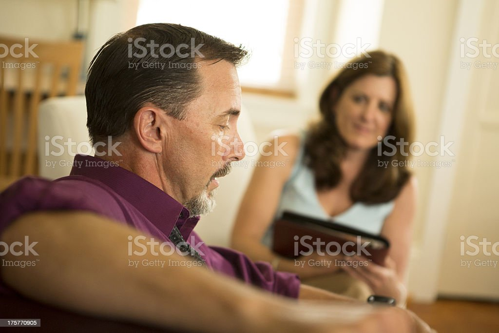 Man talking in Counseling Session royalty-free stock photo