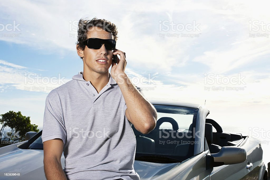 Man Talking on Cellphone royalty-free stock photo