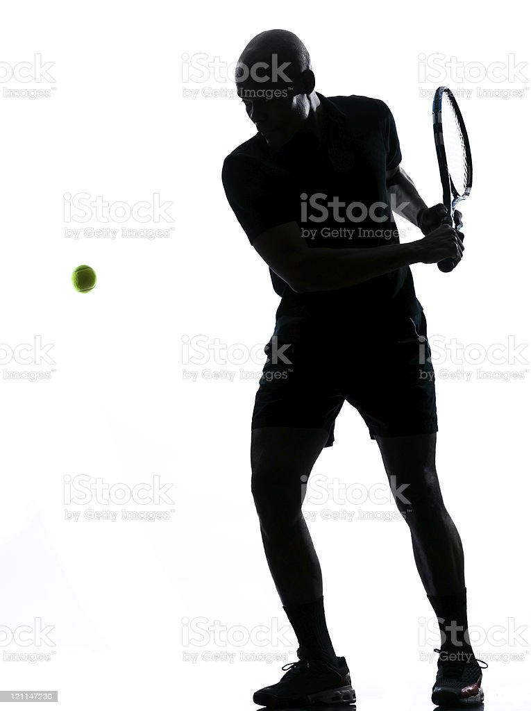man tennis player backhand royalty-free stock photo