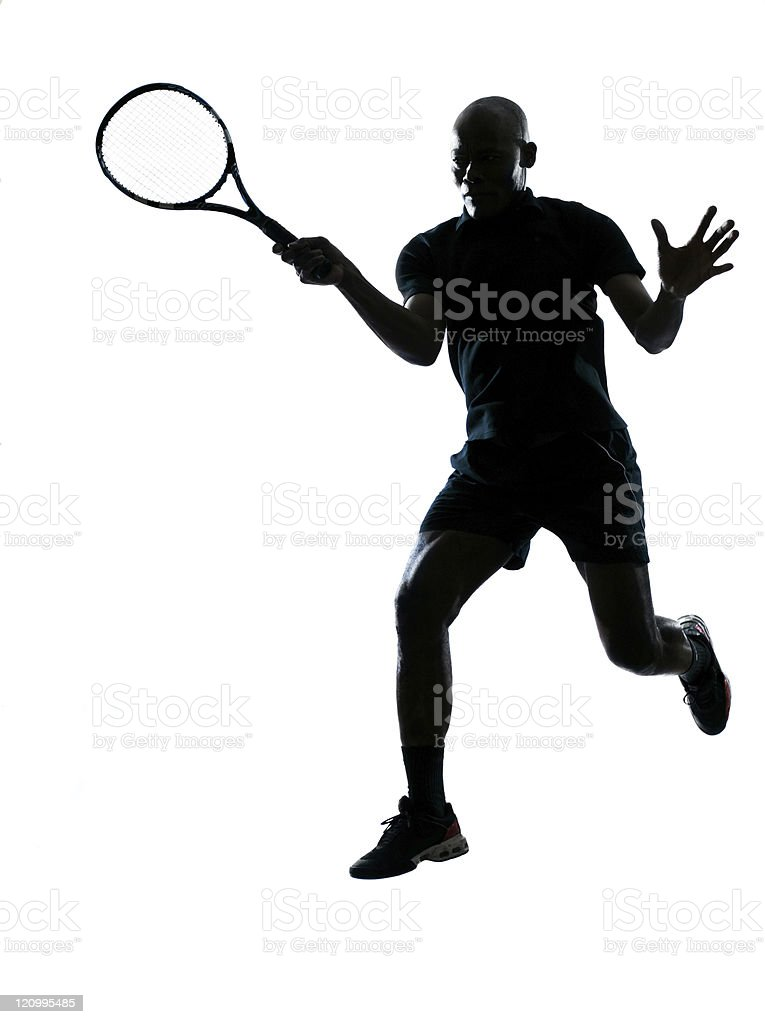 man tennis player forehand royalty-free stock photo