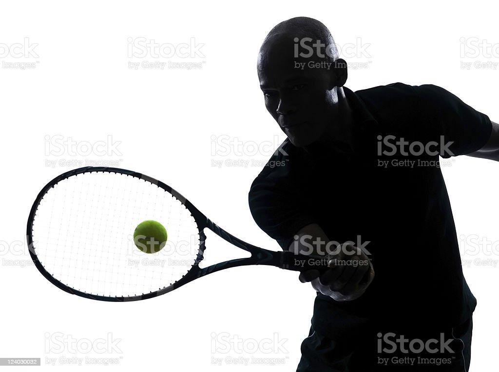 man tennis player forehand stock photo