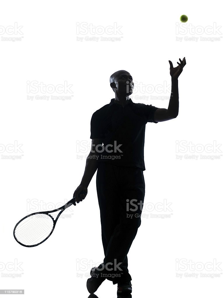 man tennis player royalty-free stock photo