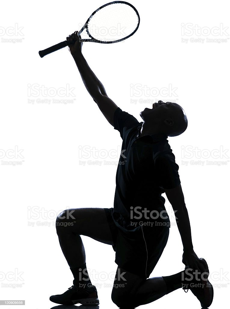 man tennis player silhouette royalty-free stock photo