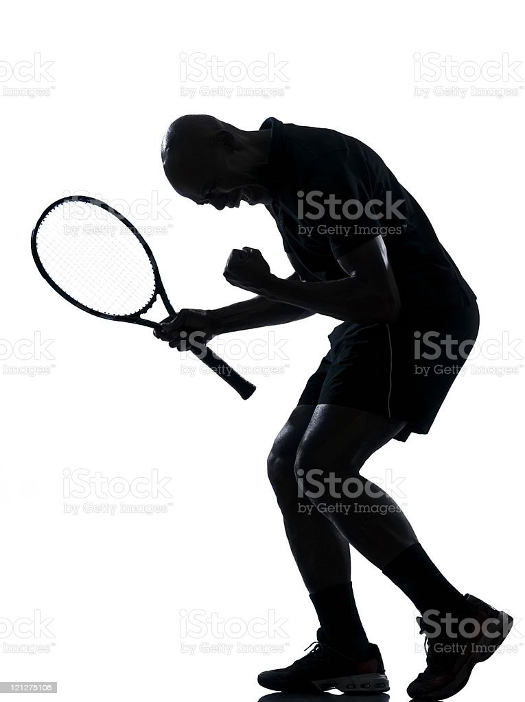 man tennis player victory sucess royalty-free stock photo