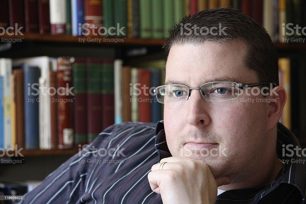 Homem a pensar foto de stock royalty-free