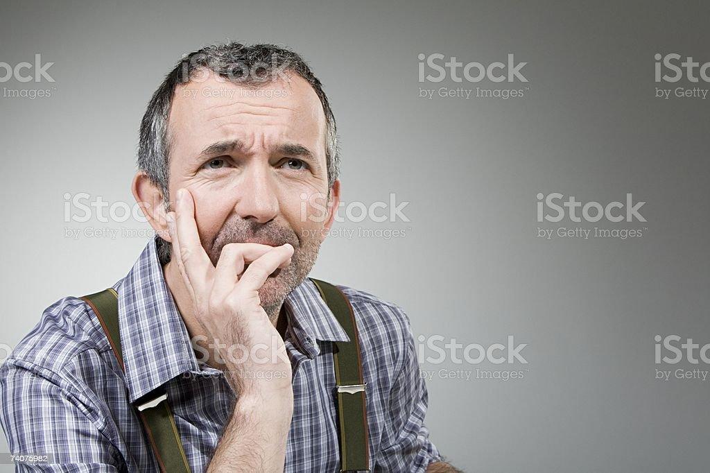Man thinking stock photo