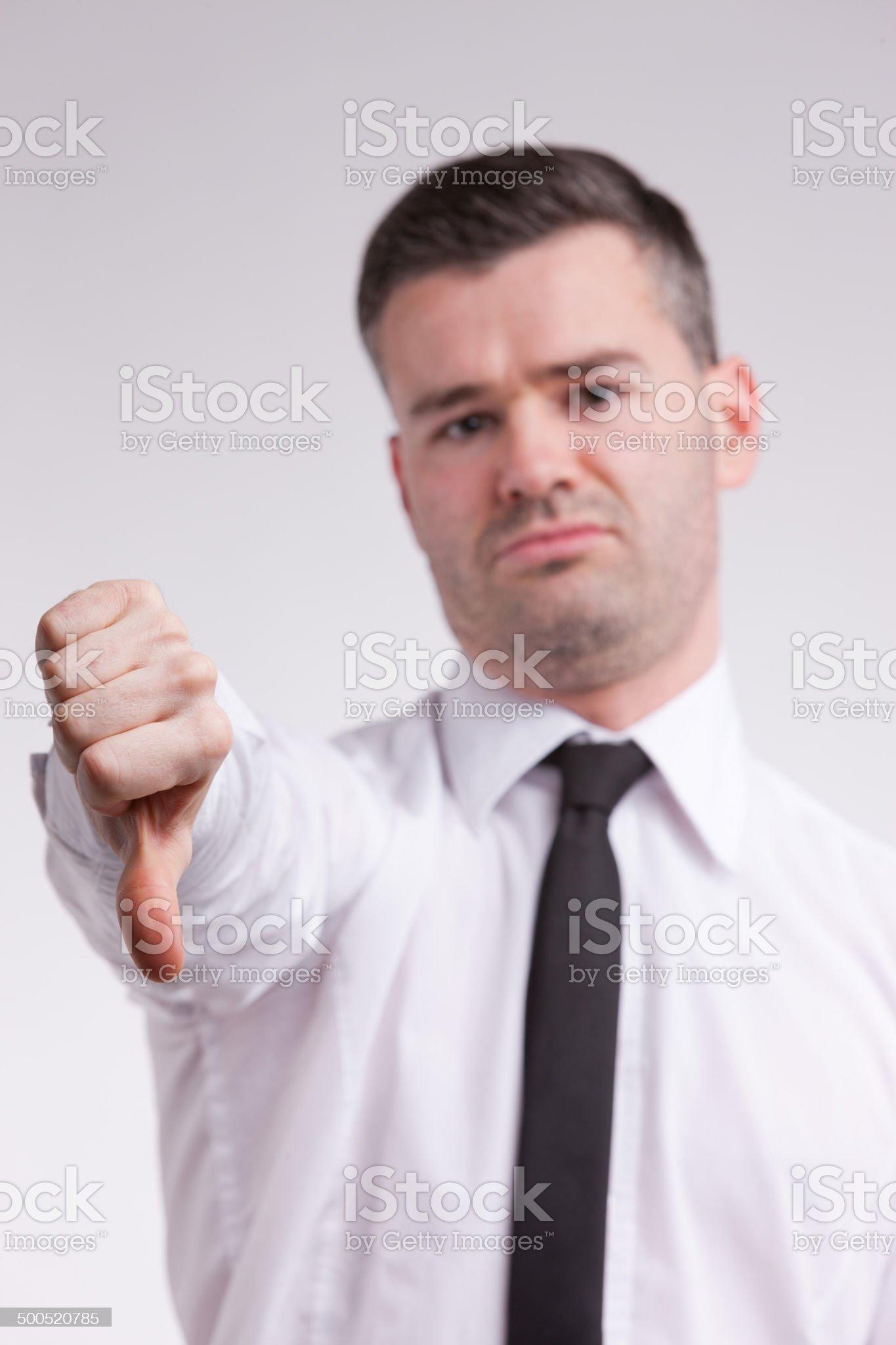 man thumbs down royalty-free stock photo