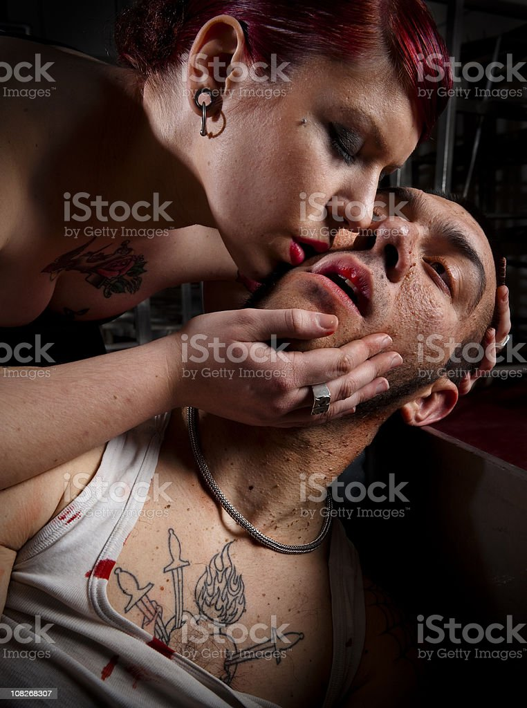 Man tortured and murdered stock photo