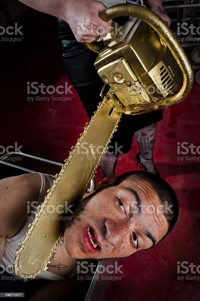 Man tortured and murdered royalty-free stock photo