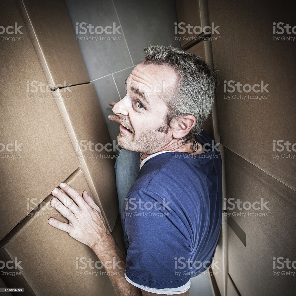 Man trapped royalty-free stock photo