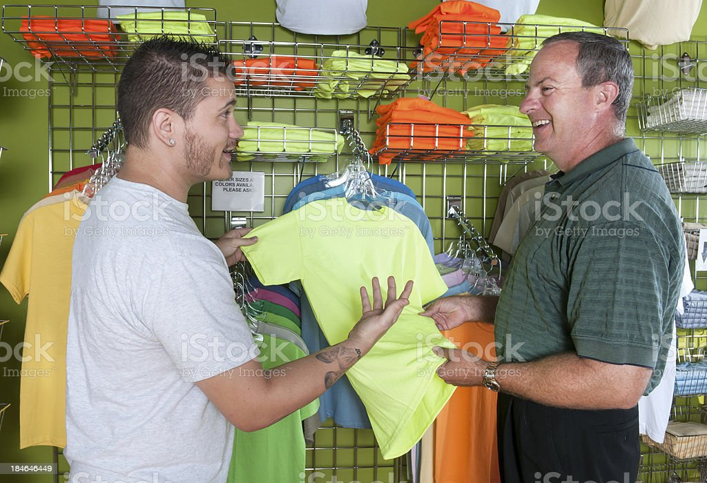 Man T-Shirt Shopping royalty-free stock photo