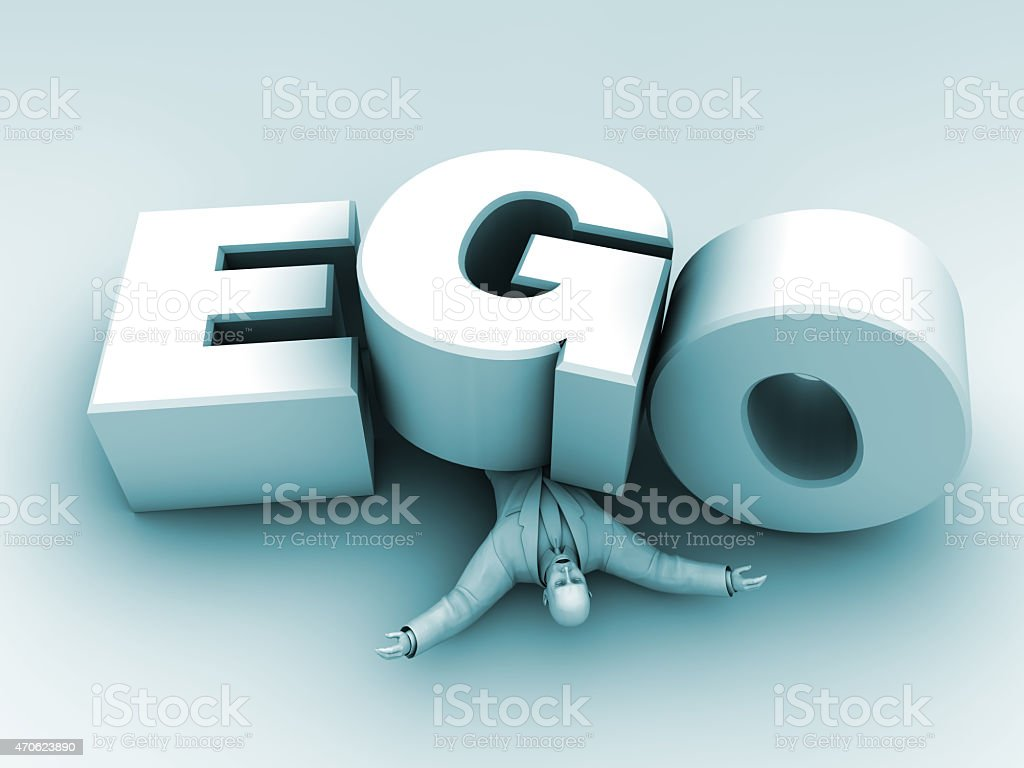 Man Under Ego stock photo