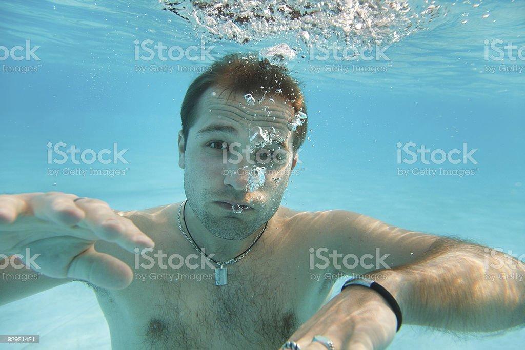 Man under water royalty-free stock photo