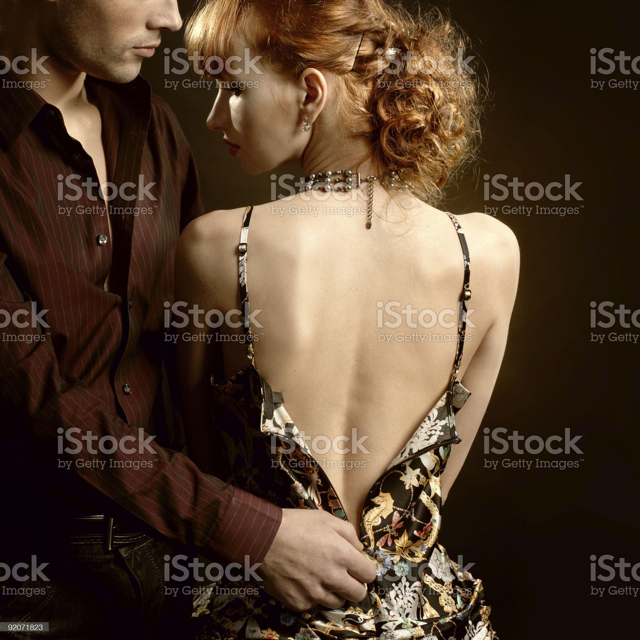 Man undress woman royalty-free stock photo