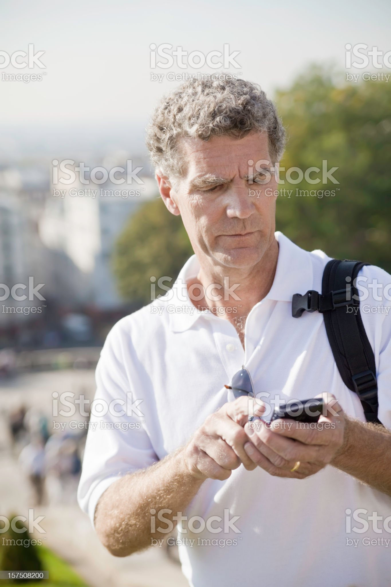 Man Using Cell Phone royalty-free stock photo