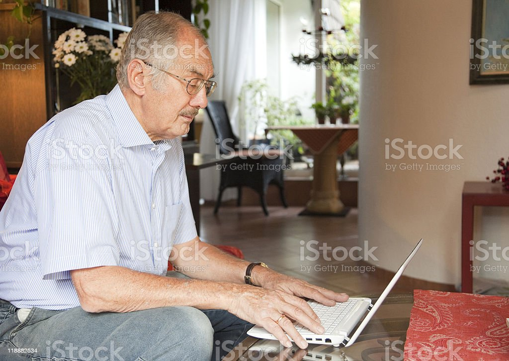 Man using computer. royalty-free stock photo