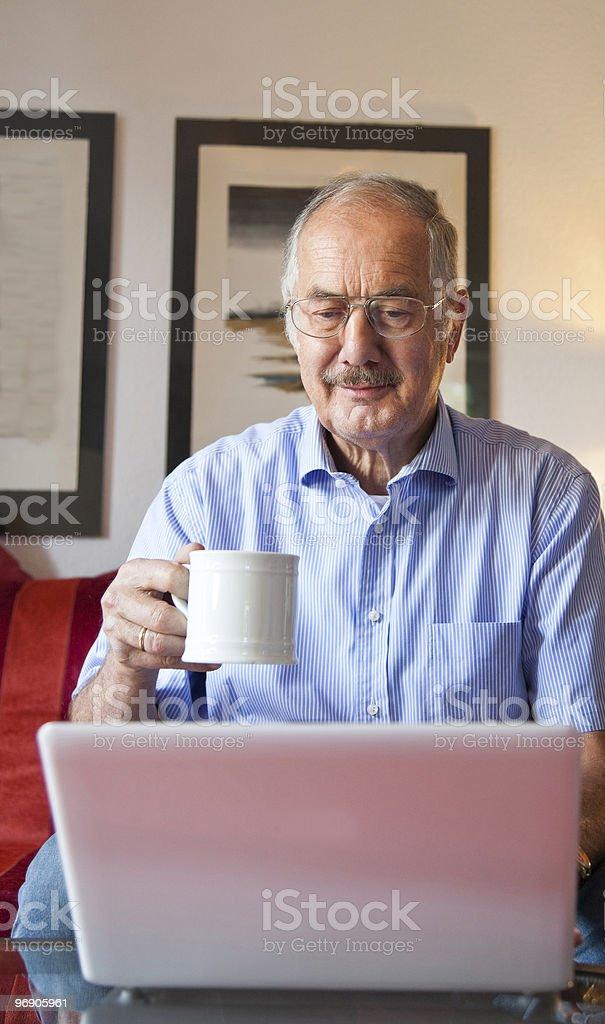 Man using computer. royalty-free stock photo