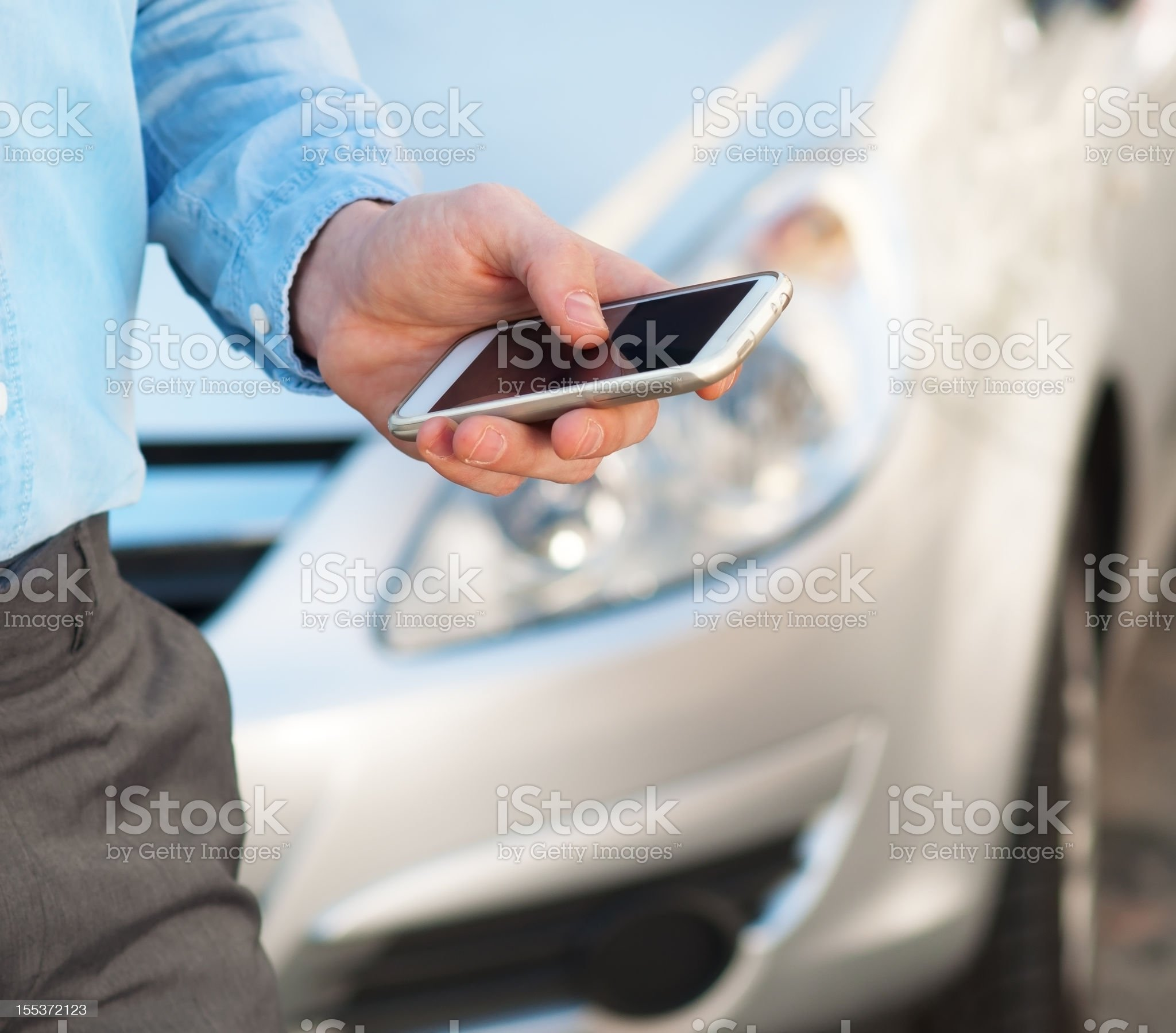 man using smart phone royalty-free stock photo