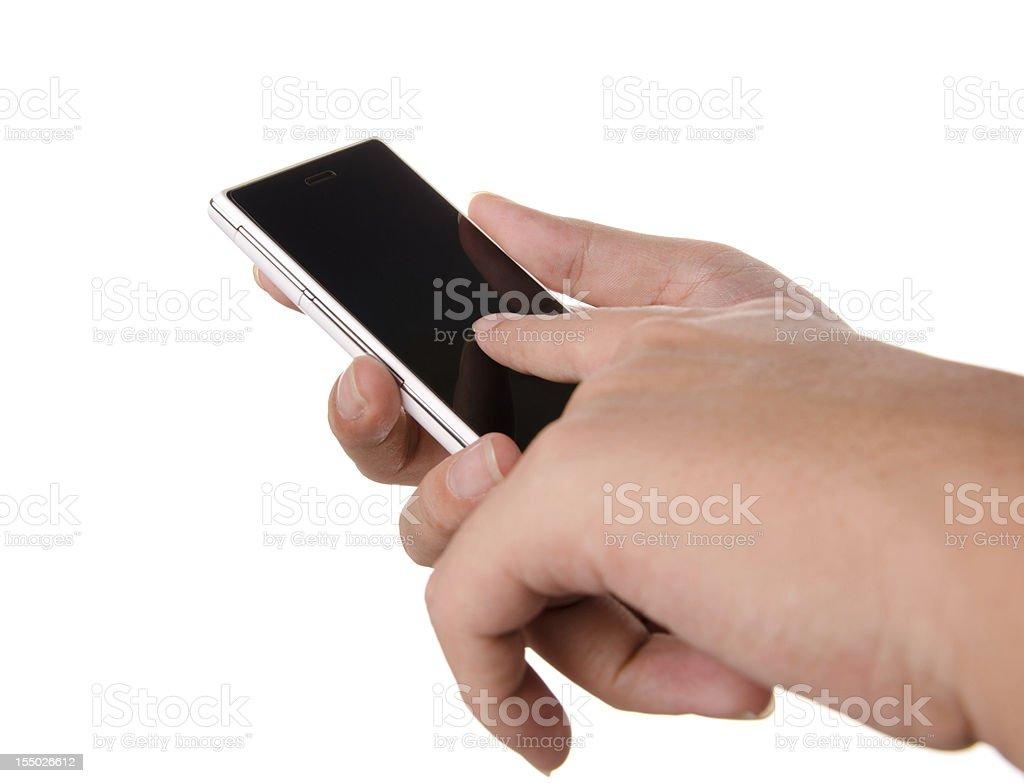 Man using smartphone royalty-free stock photo